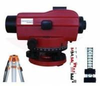 Základní nivelační set - nivelační přístroj 32x, stativ hliníkový, lať 5m